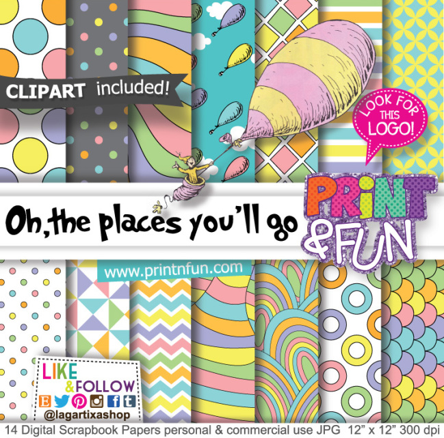 photo about Oh the Places You'll Go Printable called Oh the destinations youll move, Dr. Seuss, Electronic Paper Styles