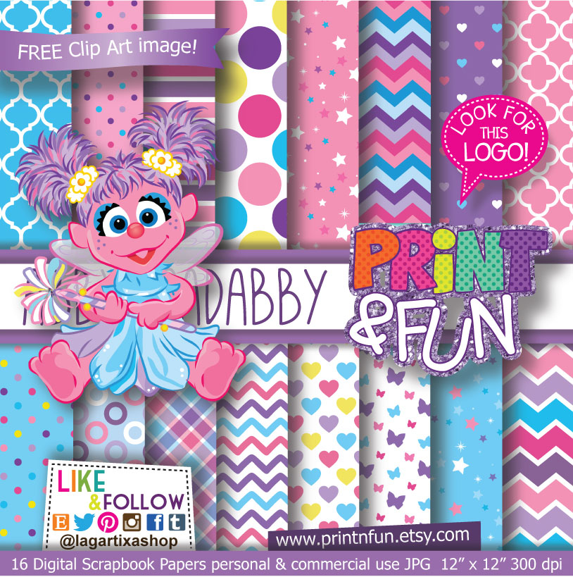 Abby Cadabby Party Digital Paper Patterns And Free Clip Art